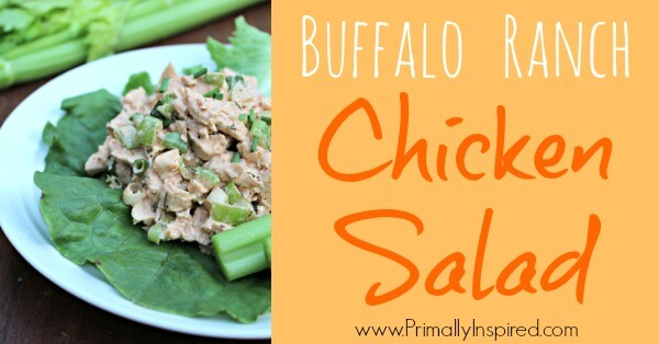 Buffalo Ranch Chicken Salad via Primally Inspired