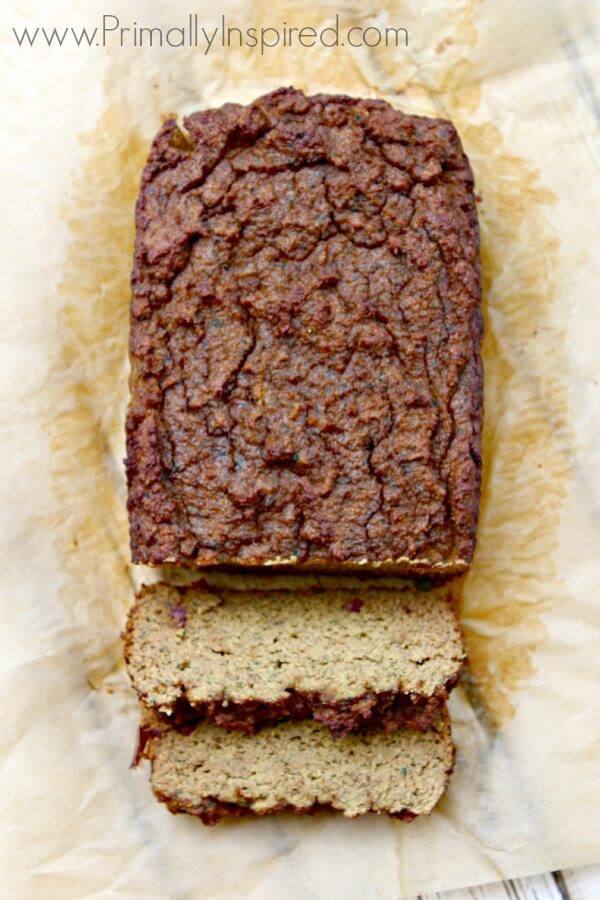 5 minute Zucchini Blender Bread Recipe from Primally Inspired (No Grains, No Added Sugar!)