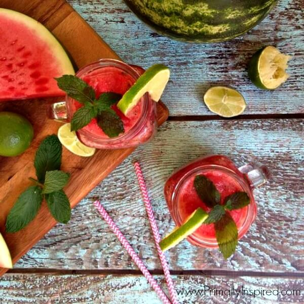 Watermelon Smoothie (No Added Sugar)  by Primally Inspired