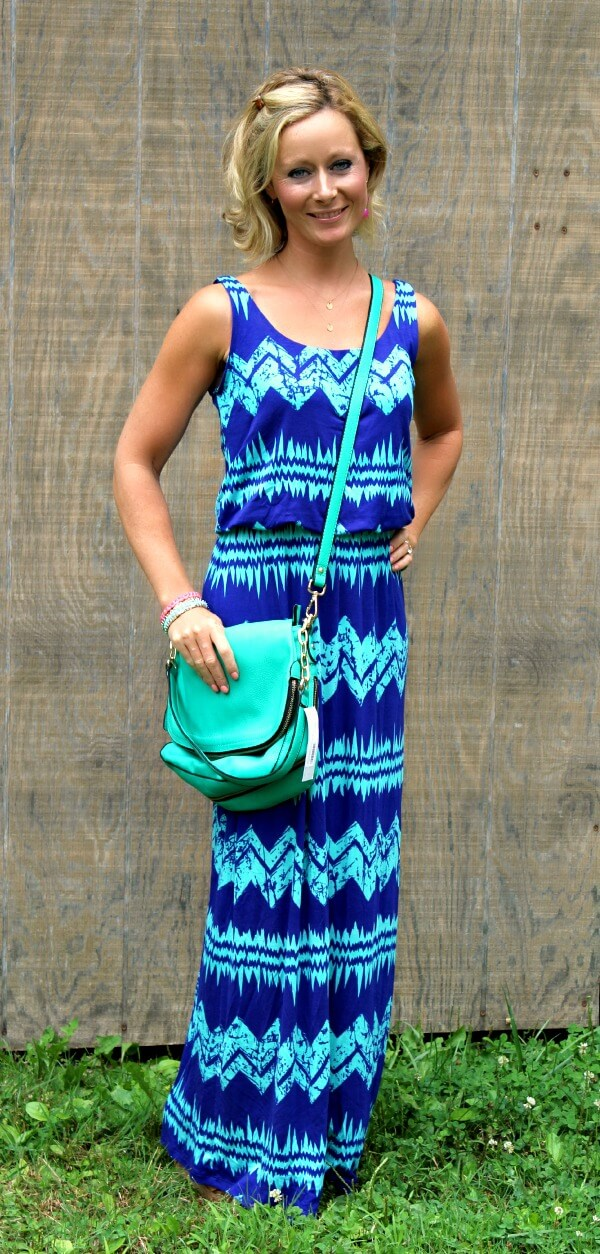 August Stitch Fix Review from Primally Inspired | Pixley Livie Abstract Chevron Maxi Dress