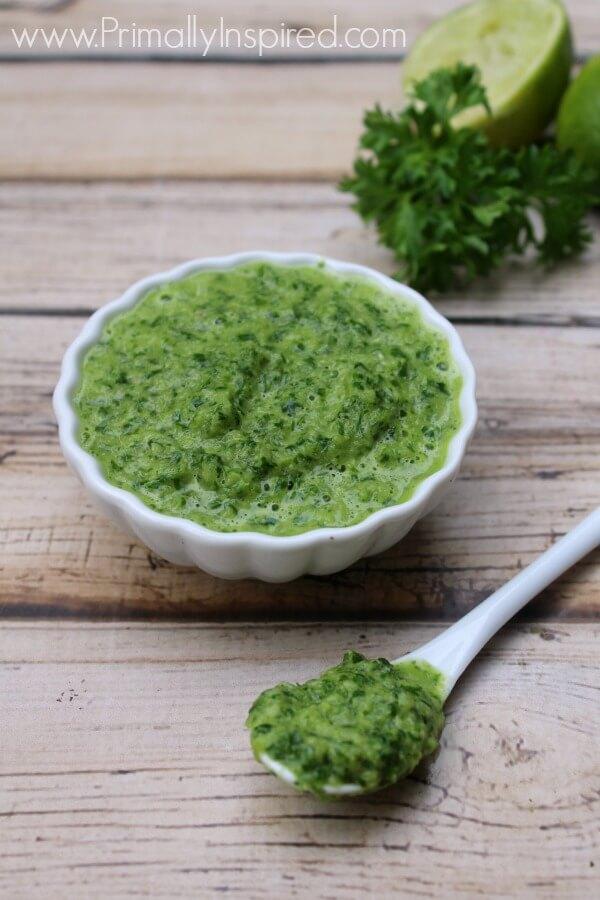 Cilantro Chimichurri Recipe from Primally Inspired