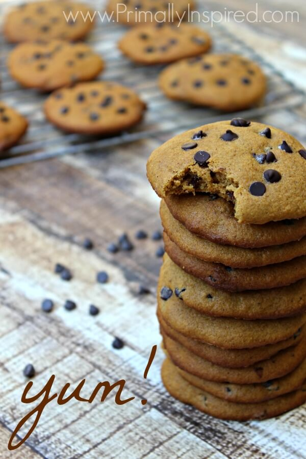 Pumpkin Chocolate Chip Cookies from Primally Inspired (Grain Free and Paleo)