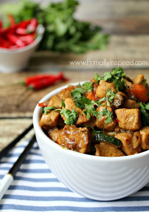 Easy Thai Chicken via Primally Inspired