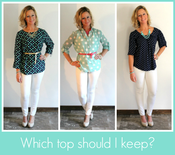 Stitch Fix Review - Polka Dot Tops