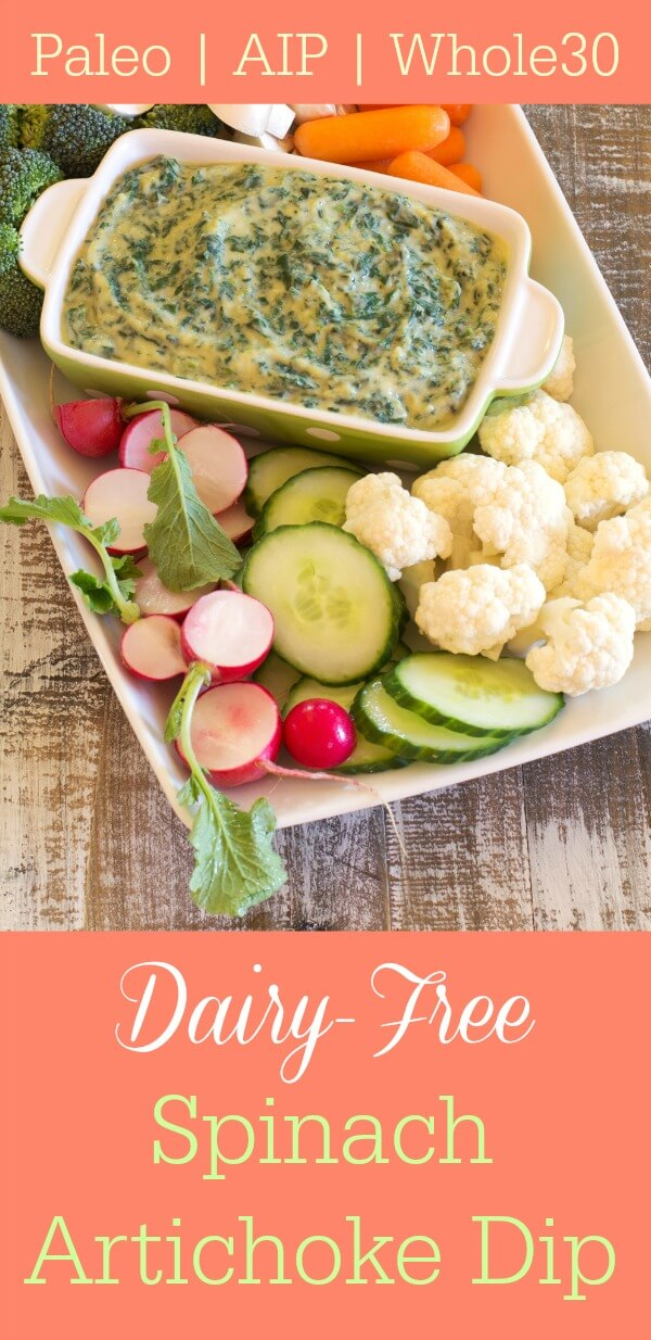 Dairy Free Spinach Artichoke Dip from Nourish via Primally Inspired (Paleo AIP Whole30)