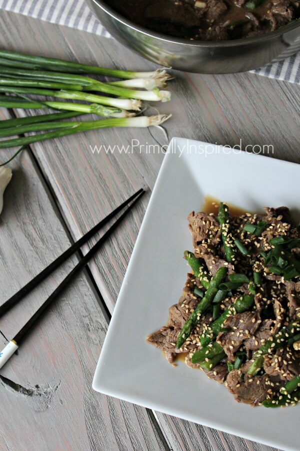 Asparagus Beef Stir-Fry from Primally Inspired (Paleo, Healthy)