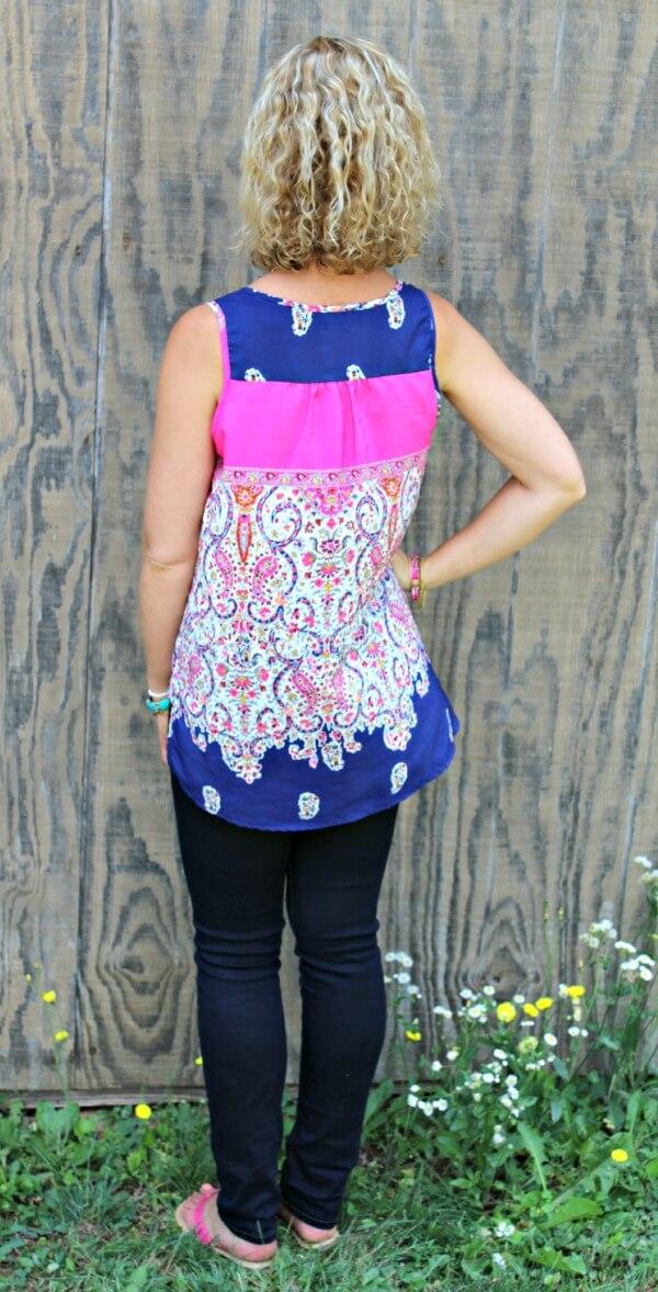 June Stitch Fix Review - Renee C Napson Lace Panel Blouse #stitchfix