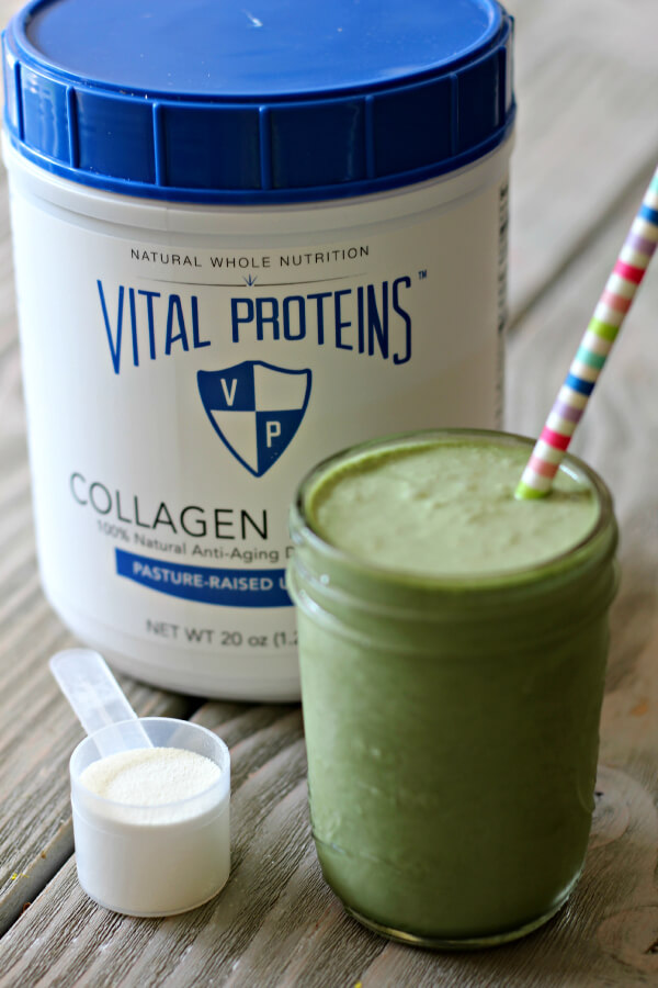 Benefits of Collagen - Green Tea Frappuccino Smoothie with Collagen Peptides!