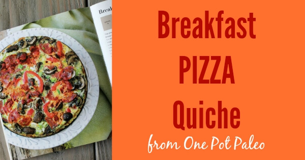 Breakfast Pizza Quiche from One Pot Paleo  www.PrimallyInspired.com #paleo #glutenfree #dairyfree
