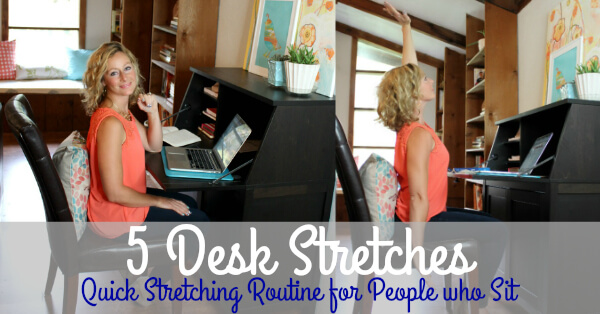 Desk Stretches for People who Sit at a Desk www.PrimallyInspired.com