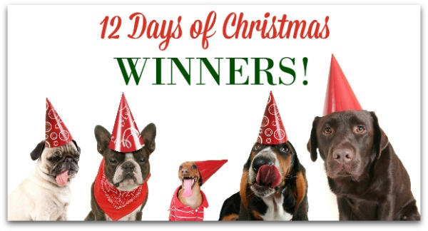 Giveaway Winners - 12 Days of Christmas