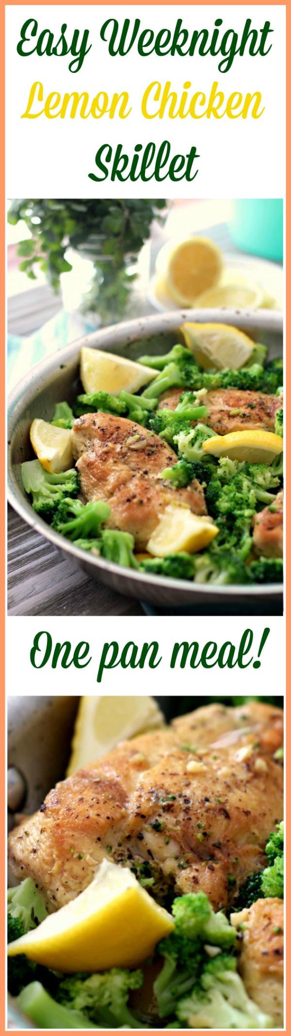 Lemon Chicken Skillet - One pan meal! Paleo, Gluten Free