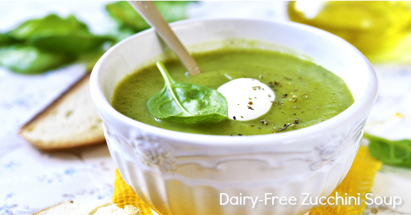 Dairy Free Zucchini Soup (Paleo, Whole30) - so creamy you won't believe it doesn't have dairy!