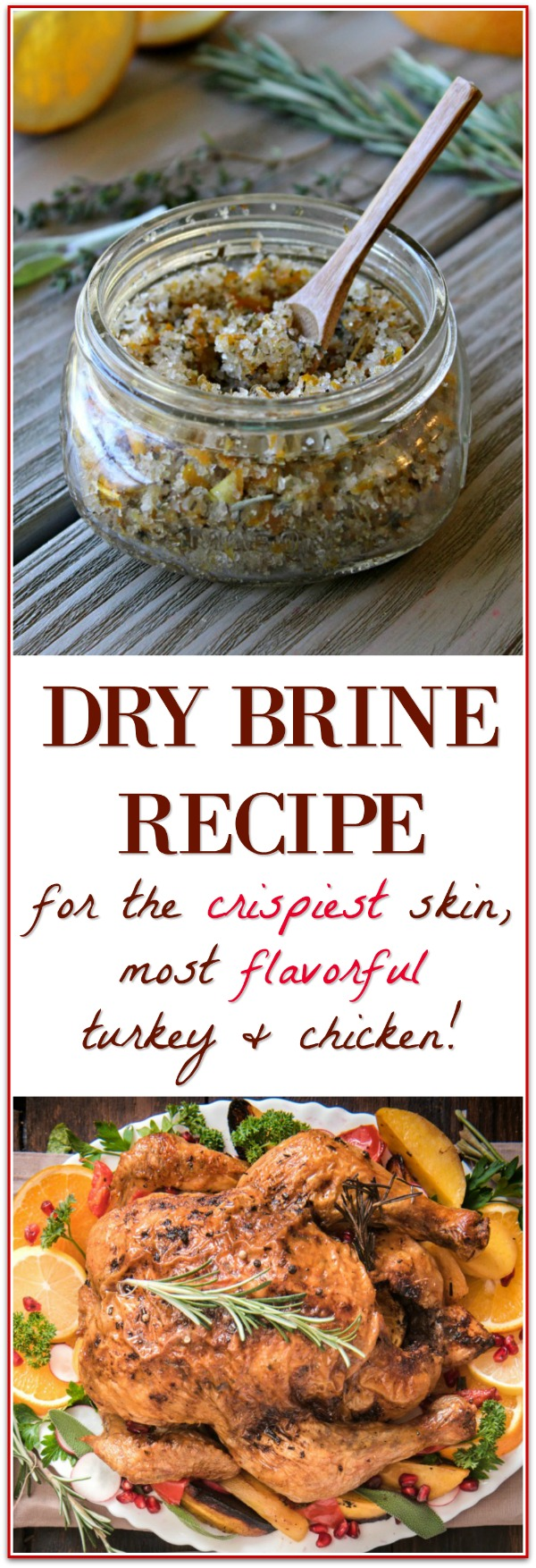 You've got to try this dry brine recipe - it makes the most flavorful and crispy skin turkey and chicken!!!