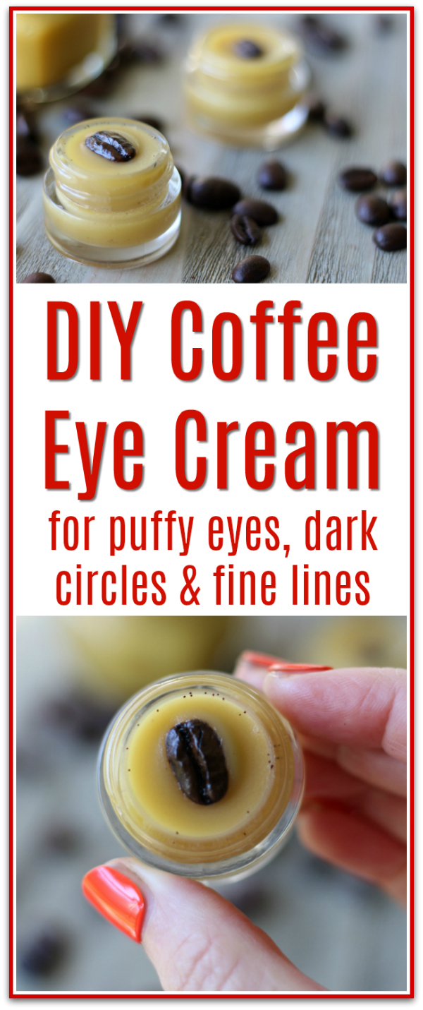 This coffee eye cream is like magic for my eyes! So good for puffy eyes and dark circles.