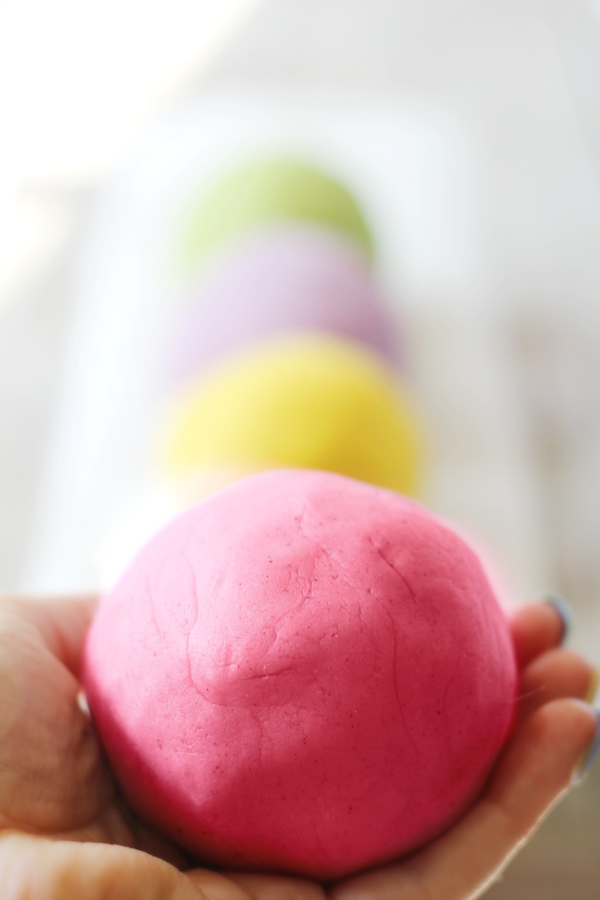 Best, Soft Homemade Play Dough with Natural Colors