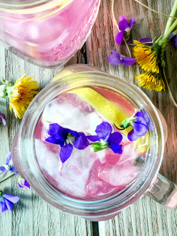 Violet & Dandelion Lemonade Recipe